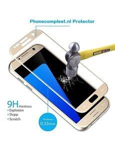 Merkloos Samsung Galaxy S7 full cover Screenprotector / tempered glass Goud