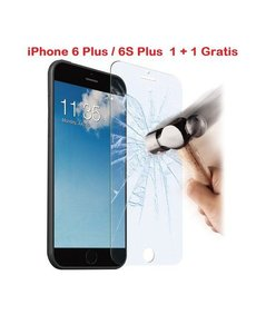 Merkloos iPhone 6 Plus / 6S Plus 1 + 1 GRATIS Glazen tempered glass / Screenprotector