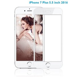 Merkloos iPhone 8 Plus / 7 Plus 5.5 inch Anti-Scratch Full Screen Coverage Tempered Glass - Wit