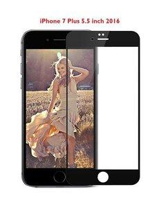 Merkloos iPhone 8 Plus / 7 Plus 5.5 inch full screen coverage tempered glass zwart