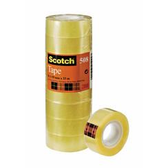 Plakband Scotch 508 19mmx33m transparant