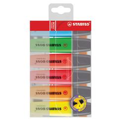 Markeerstift STABILO original etui  à 6 kleuren