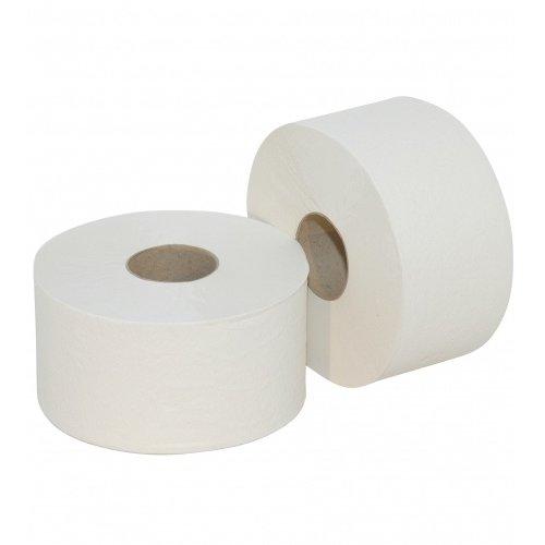 Euro Products Mini Jumbo toiletpapier rollen wit 2-laags (12)