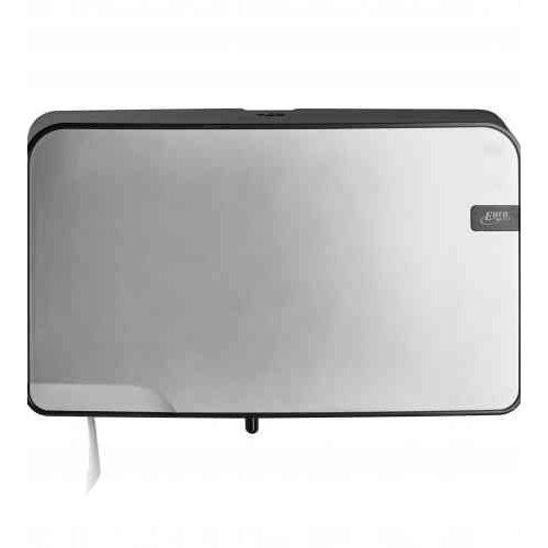 Euro Products Quartz line Mini Duo Jumbo toiletpapier Dispenser Silver