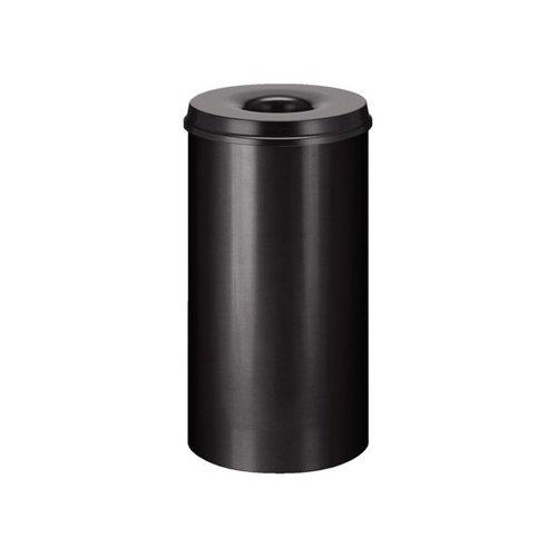 Papierbak met vlamdover 50liter 33.5cm zwart