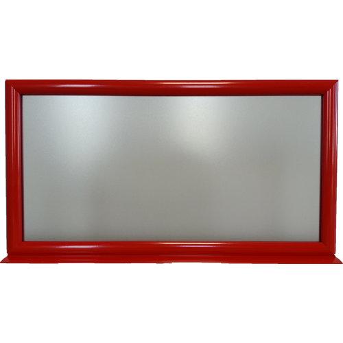 Infotopper rood 455x238mm liggend
