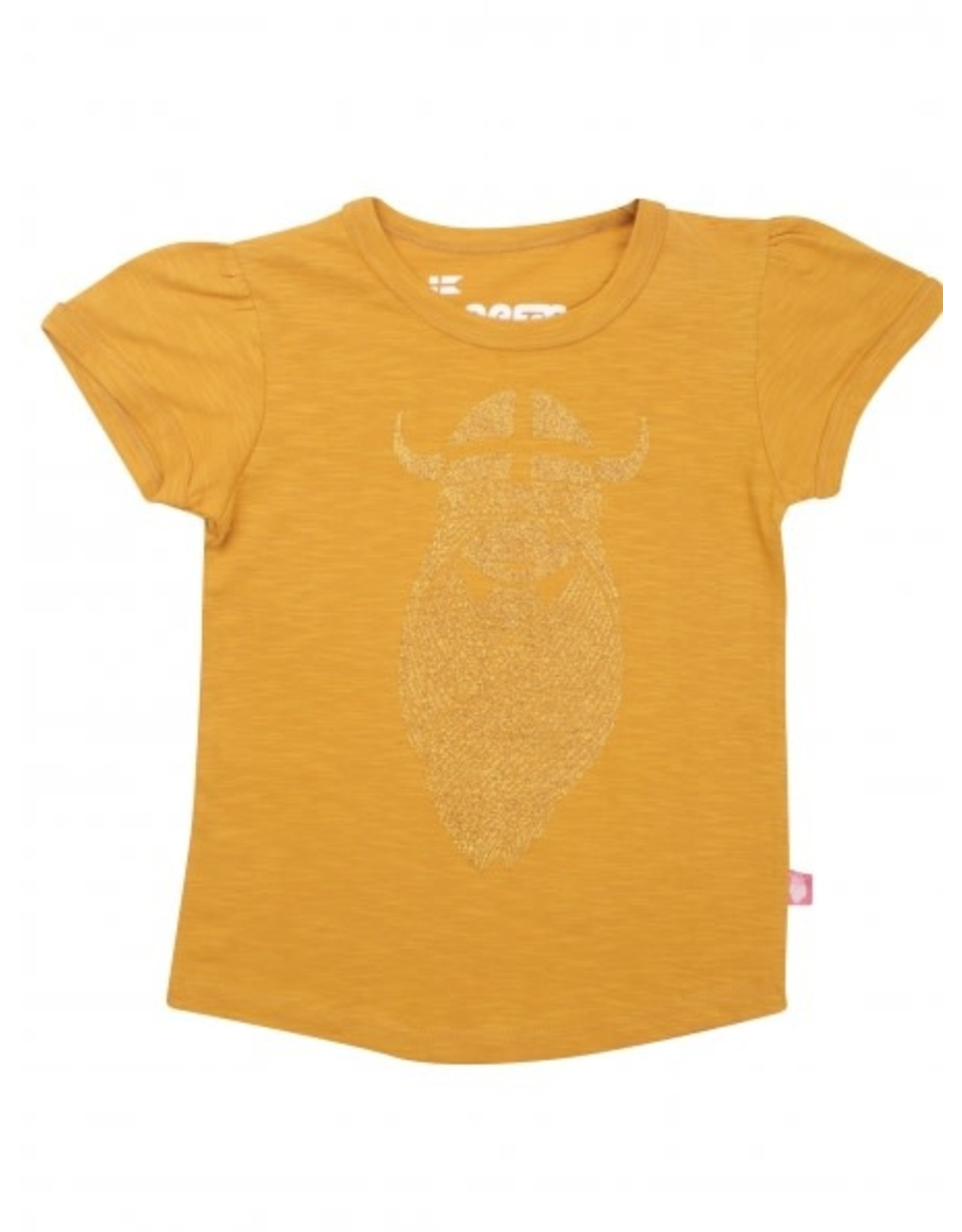 Danefae Oker T-shirt met gouden Freja print