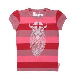 Danefae Roze Gestreepte Freja T-shirt
