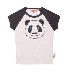 Dyr Dyr Panda T-shirt Zwarte Mouwen