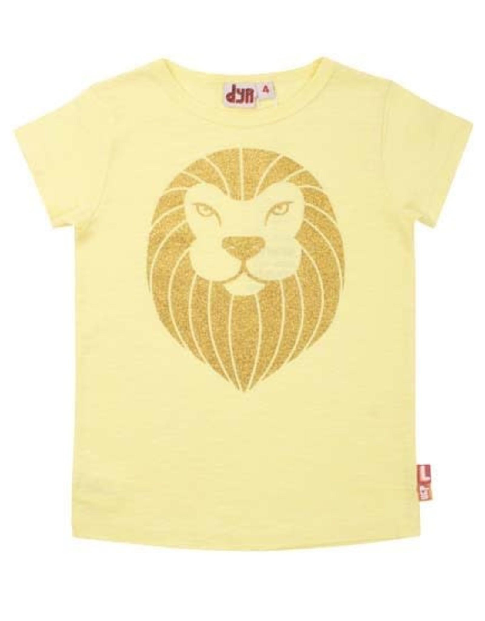 Dyr Dyr T-shirt Met Korte Mouwen Gouden Leeuw