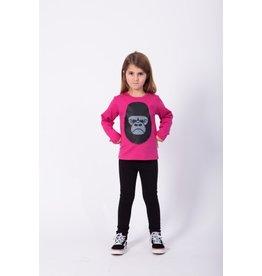 Dyr T-shirt Met Lange Mouwen Roze Met Gorilla