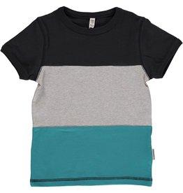 Maxomorra T-shirt Met Gestreepte Blokken