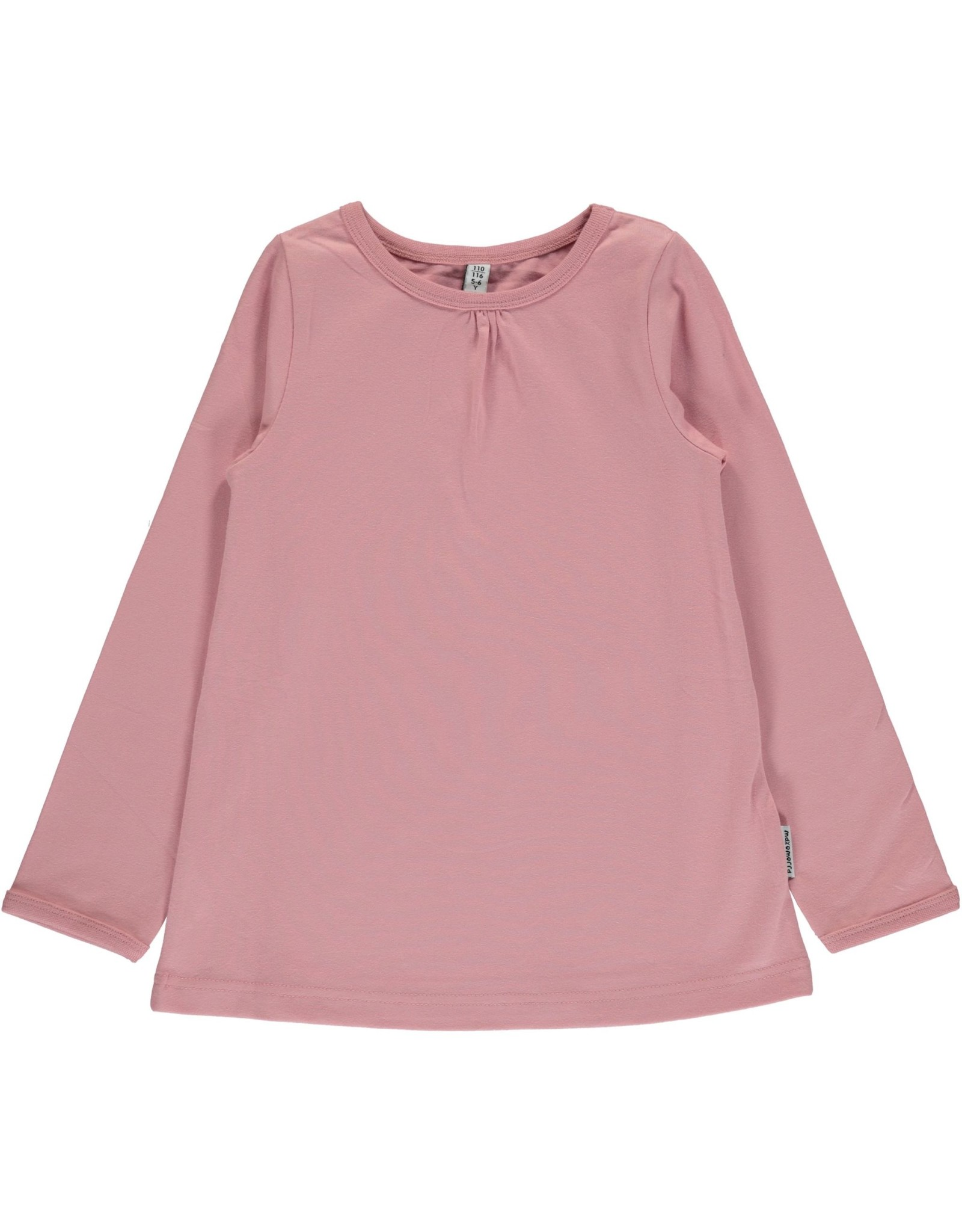 Maxomorra Maxomorra T-shirt Met Lange Mouwen Basic Roze