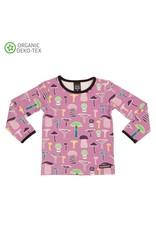 Villervalla Villervalla Paarse T-shirt Met Paddenstoelen