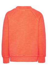 Name It Name It Neon Oranje Sweatvest Met Rits