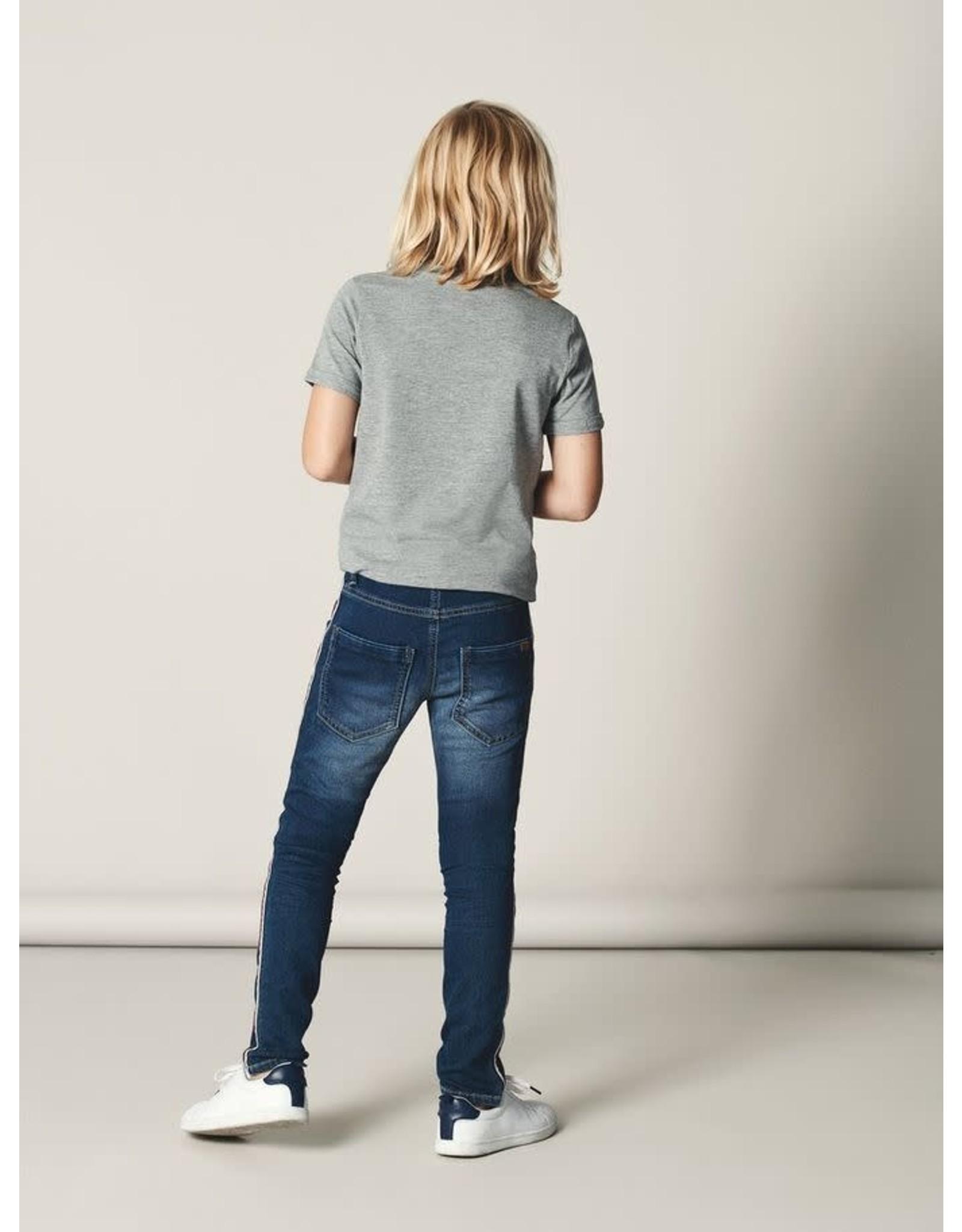 Name It Name It Normal Fit Jeans Met Bordeaux/Grijze Streep
