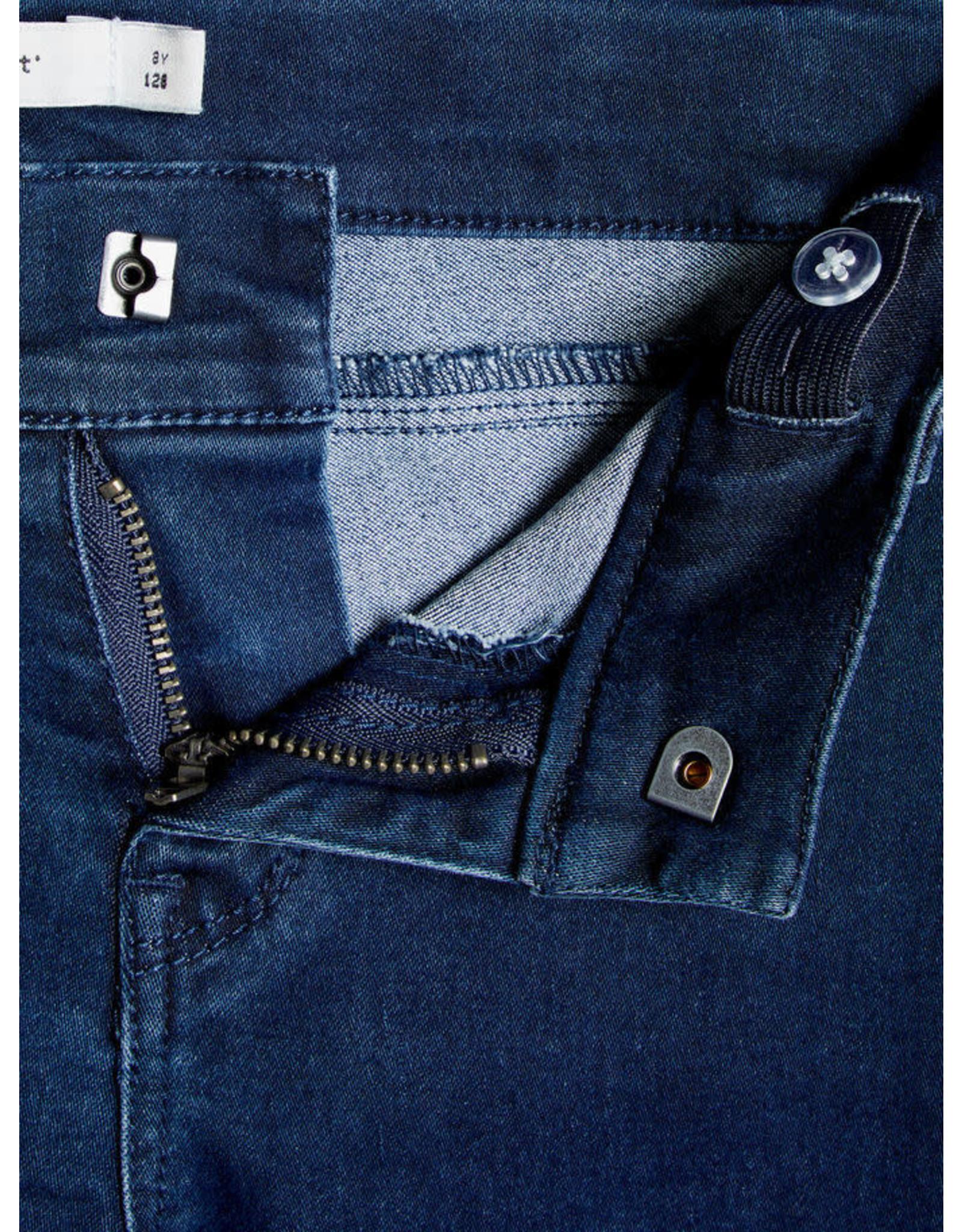 Name It Name It Skinny Fit Jeans Donkerblauw - LAATSTE MAAT 158