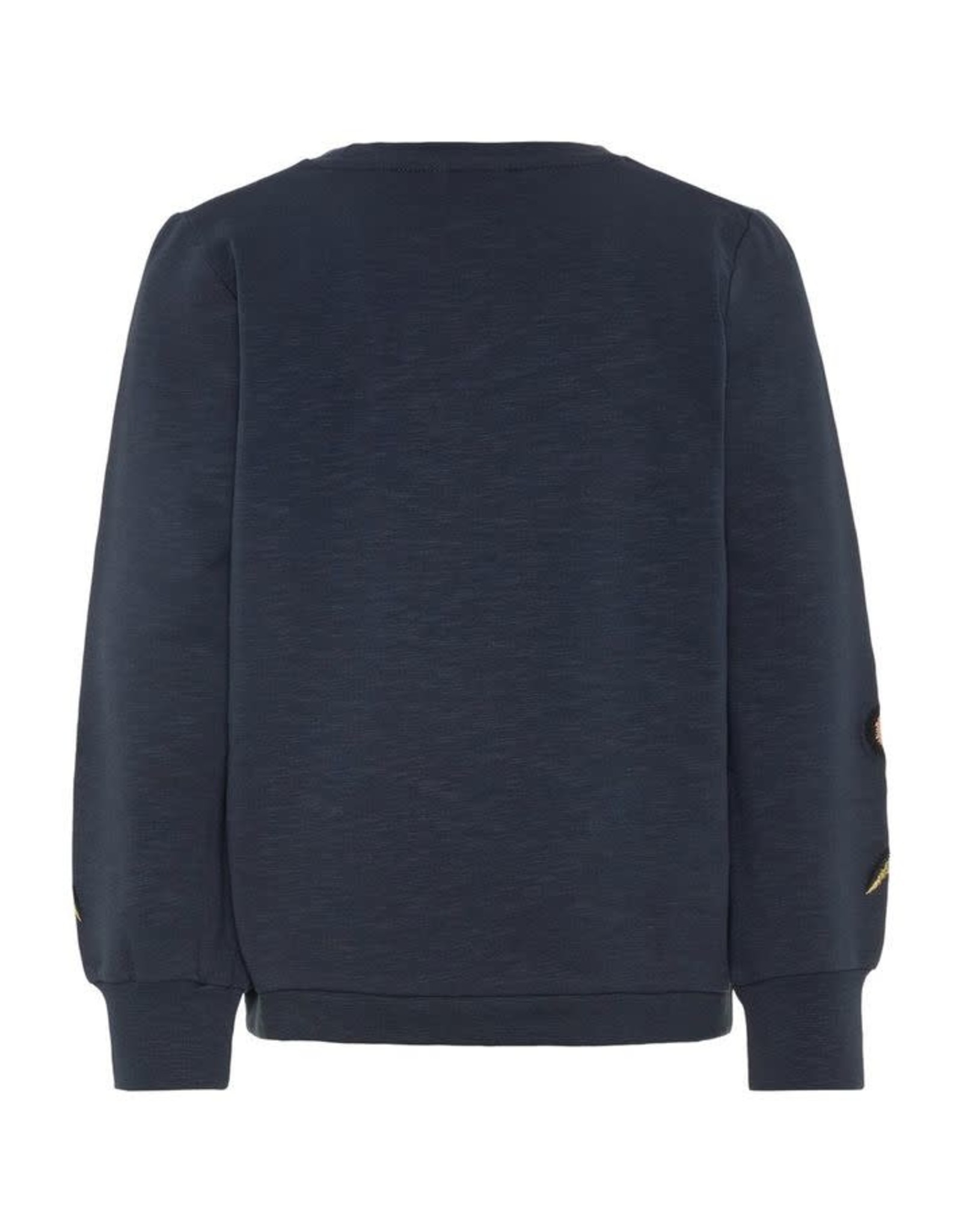 Name It Name It Sweater Blauw Met Geborduurde Bloemen