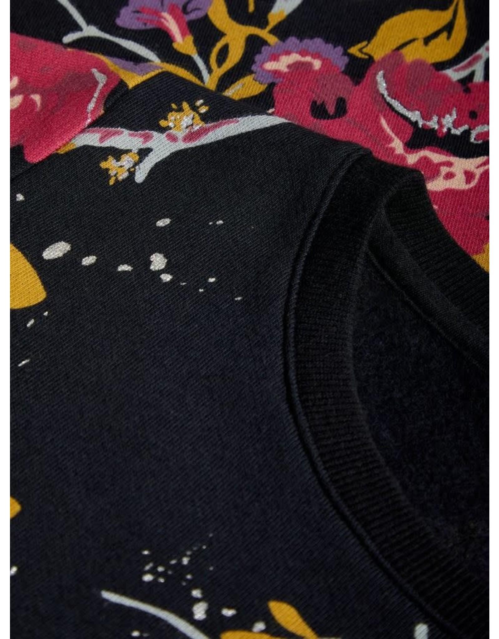 Name It Trui Zwart Met Bloemenprint
