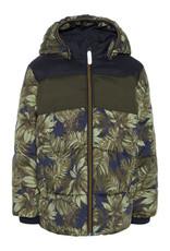 Name It Name It Warme Winterjas Met Palmbladprint