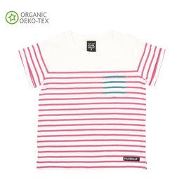 Villervalla T-shirt Met Korte Mouwen Gestreept Flamingo