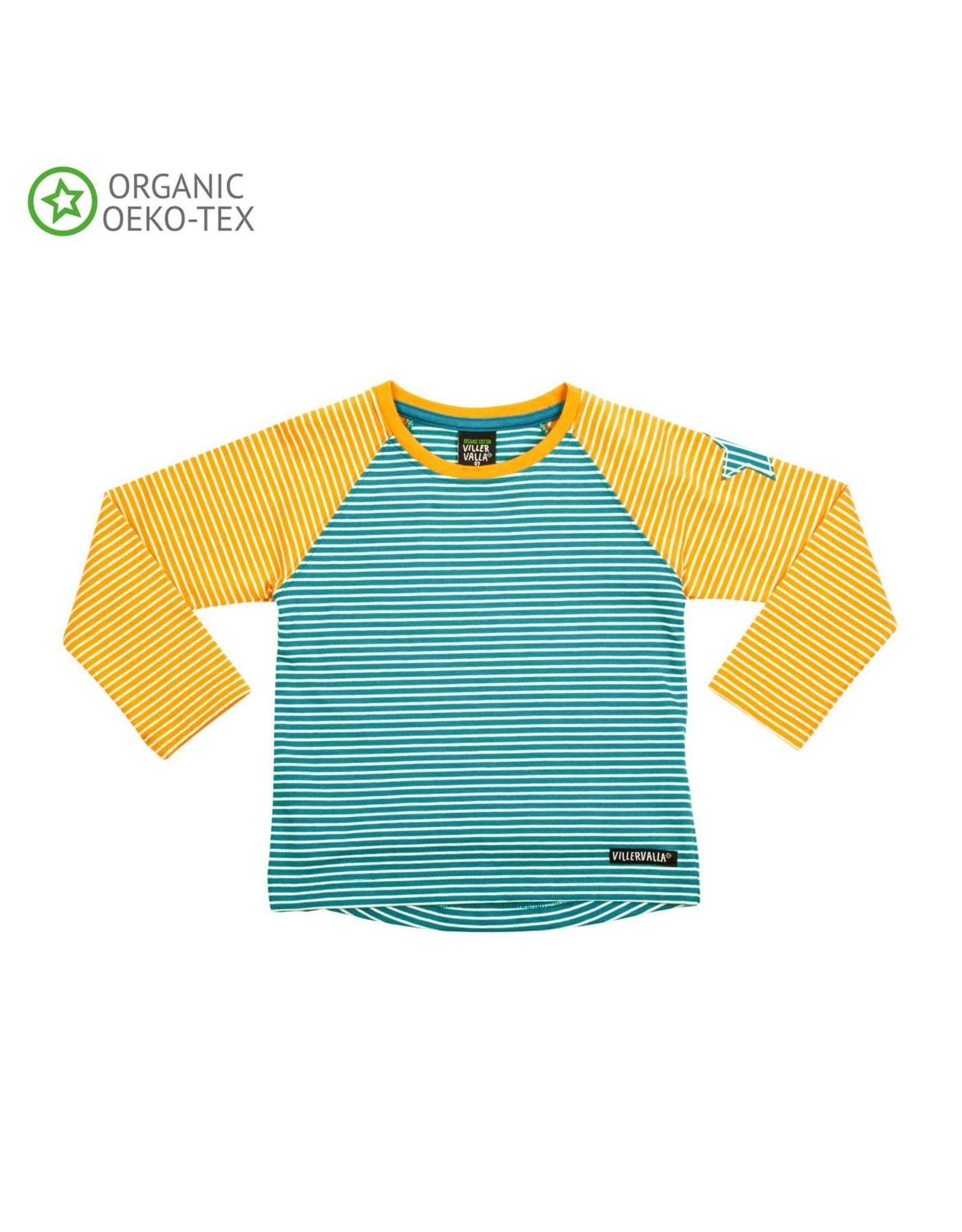 Villervalla Villervalla T-shirt Met Lange Mouwen Lake/Tangerine