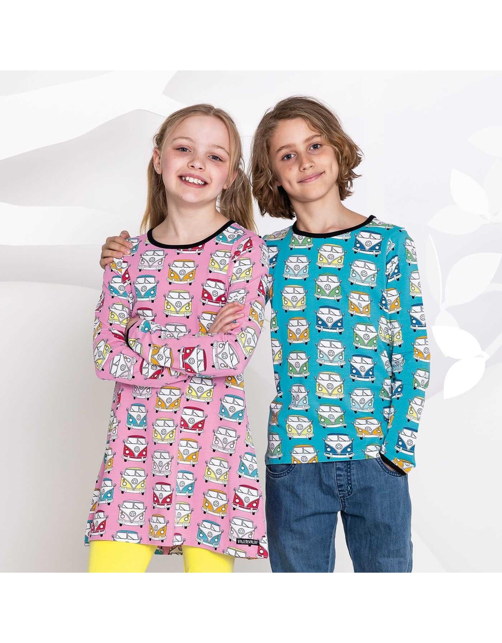 Villervalla T-shirt Met Retro Busjes Print (2 Kleuren)