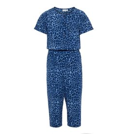 Name It Blauwe Jumpsuit Met Luipaardmotief