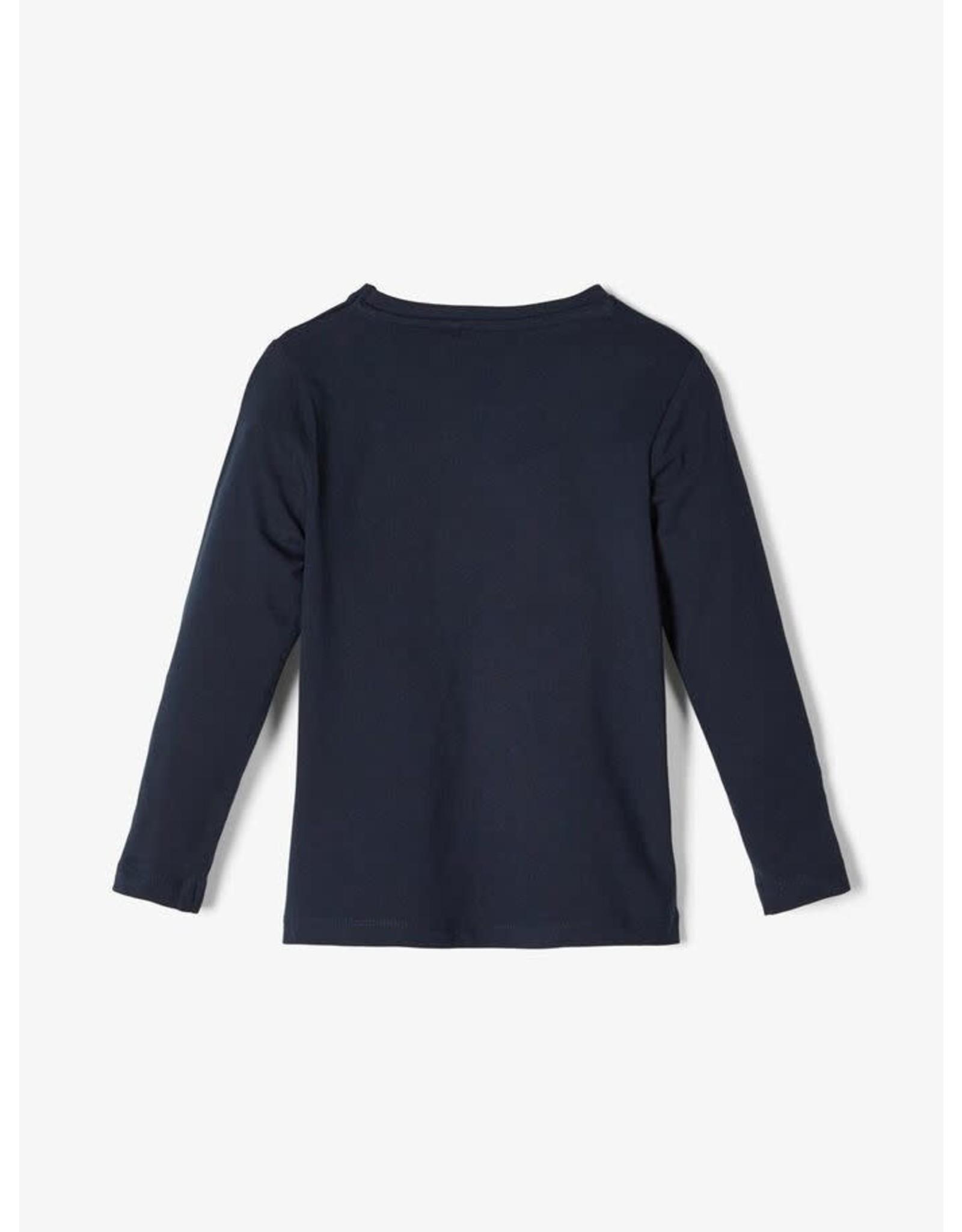 Name It Hartjes T-shirt Met Lange Mouwen van Name It uit organisch katoen (Blauw OF Wit)