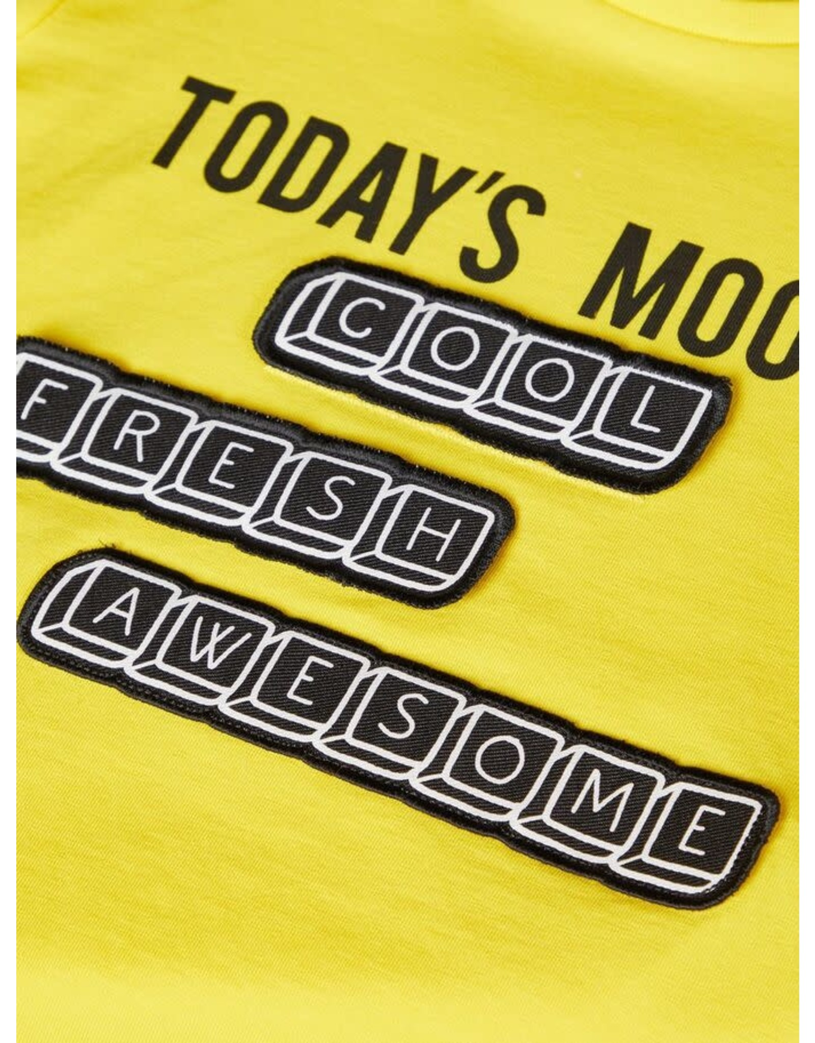 Name It Name It Wisselbare Badges t-shirt uit organisch katoen