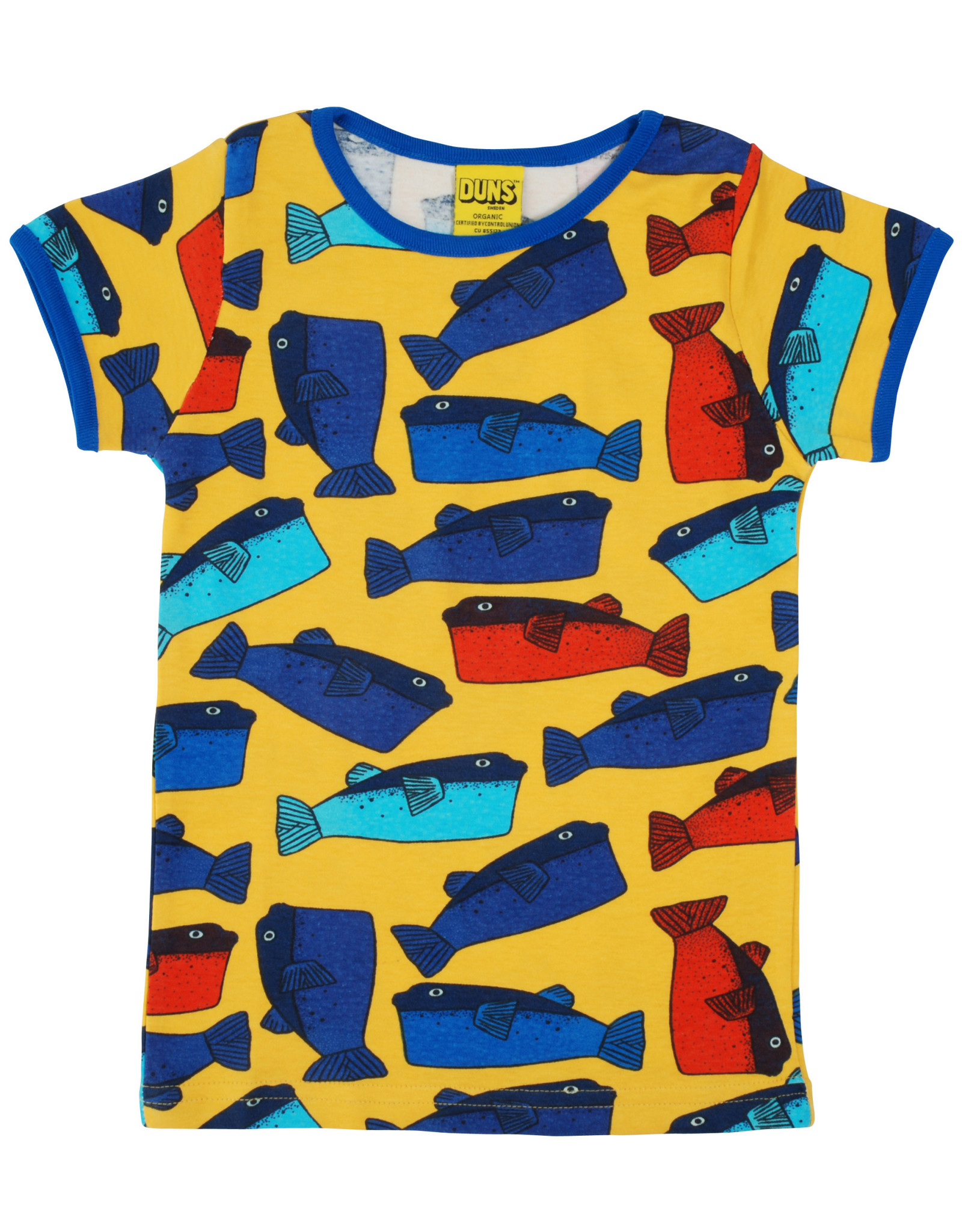 Duns Groene OF gele T-shirt met vissen