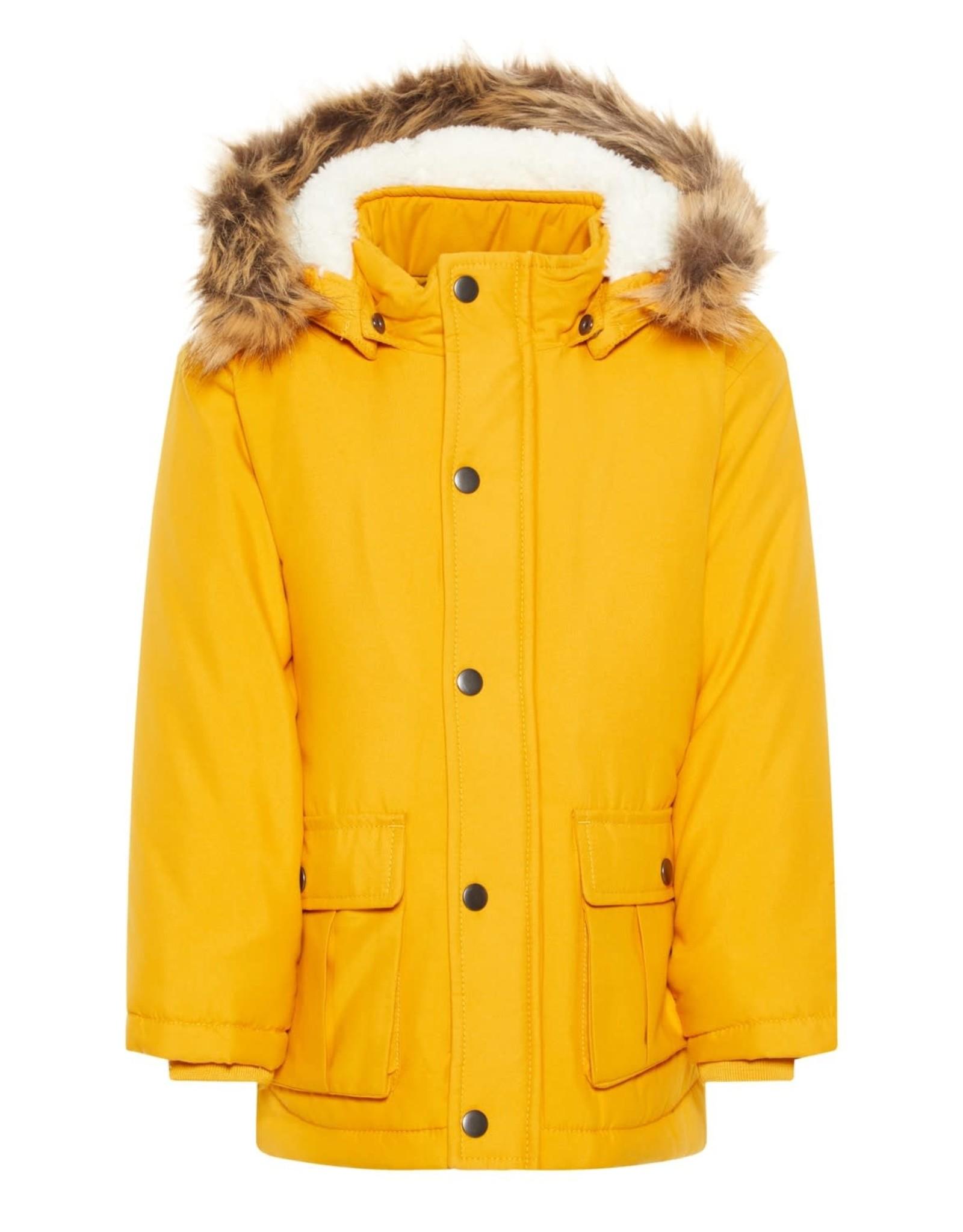 Name It Gele unisex winter parka jas - LAATSTE MAAT 110