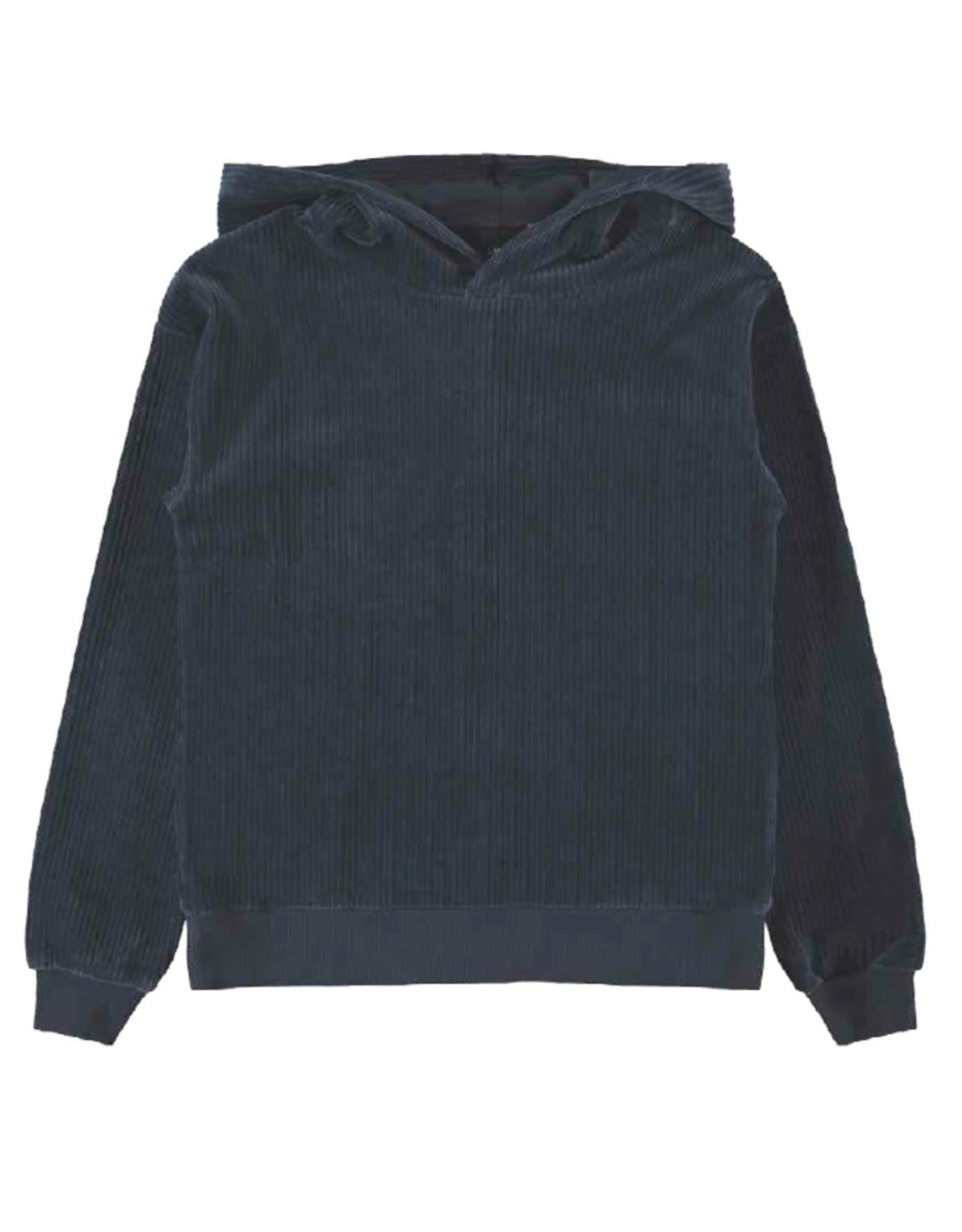 Name It Donkerblauwe velours unisex hoodie