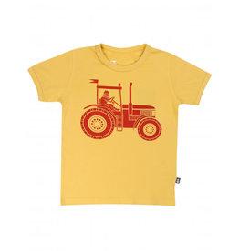 Danefae Gele t-shirt met viking Erik op een tractor