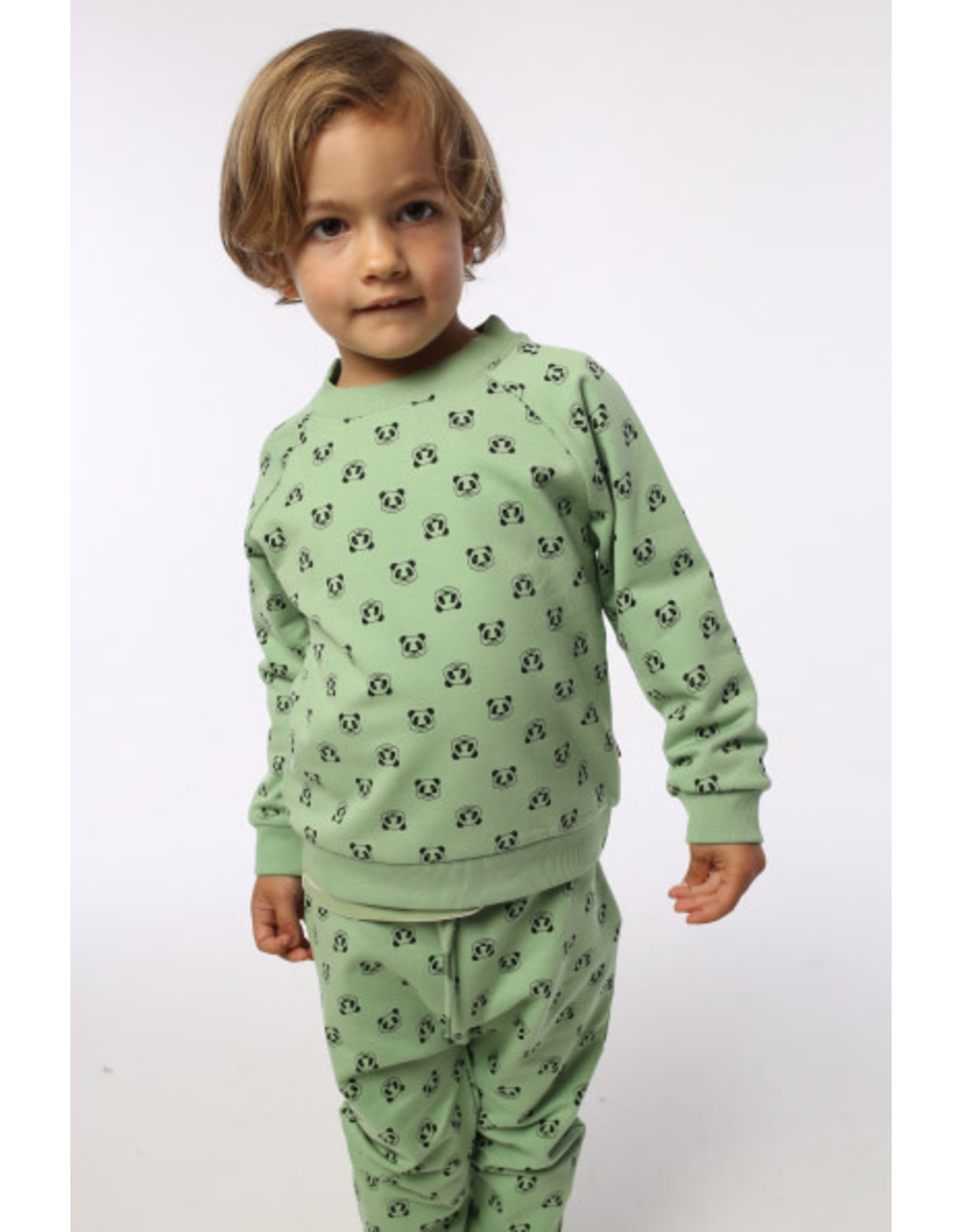 Dyr Dyr groene sweater met all over panda print