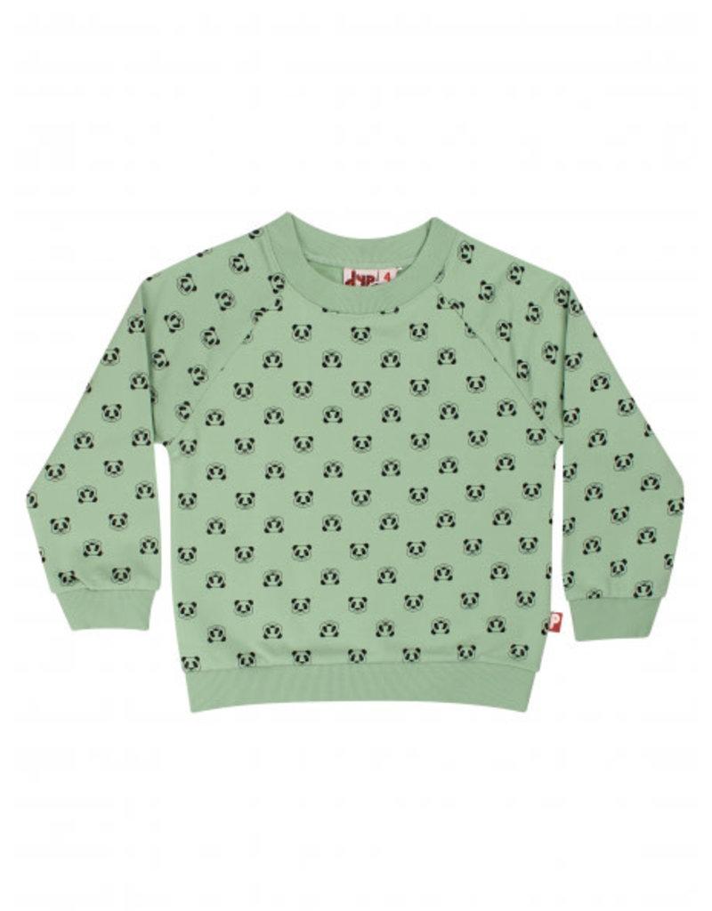 Dyr Dyr groene sweater met all over panda print