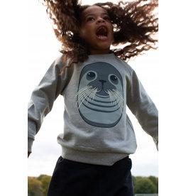 Dyr Grijze sweater met zeehond