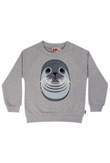 Dyr Grijze sweater van Dyr met zeehond