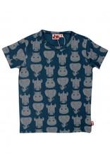 Dyr Blauwe t-shirt van Dyr met wilde dieren