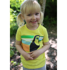 Dyr Gele t-shirt met toekan