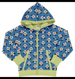 Maxomorra Hoodie vest met panda's