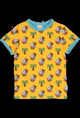 Maxomorra Gele Maxomorra t-shirt met kamelen en palmbomen print