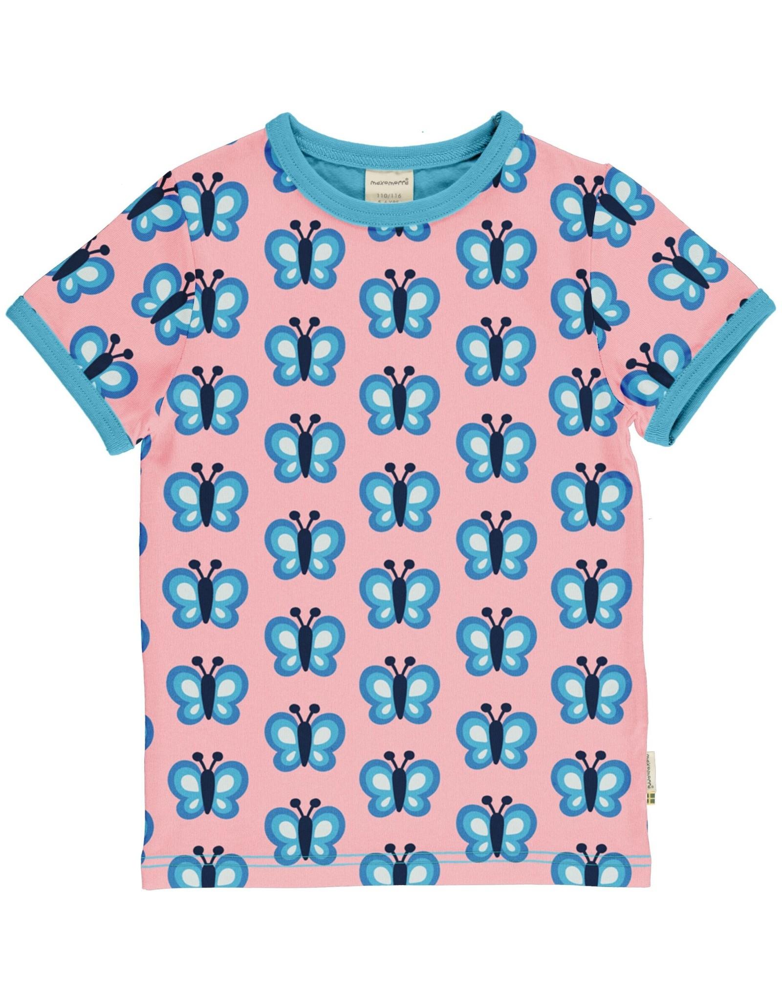 Maxomorra Maxomorra t-shirt met vlinder print