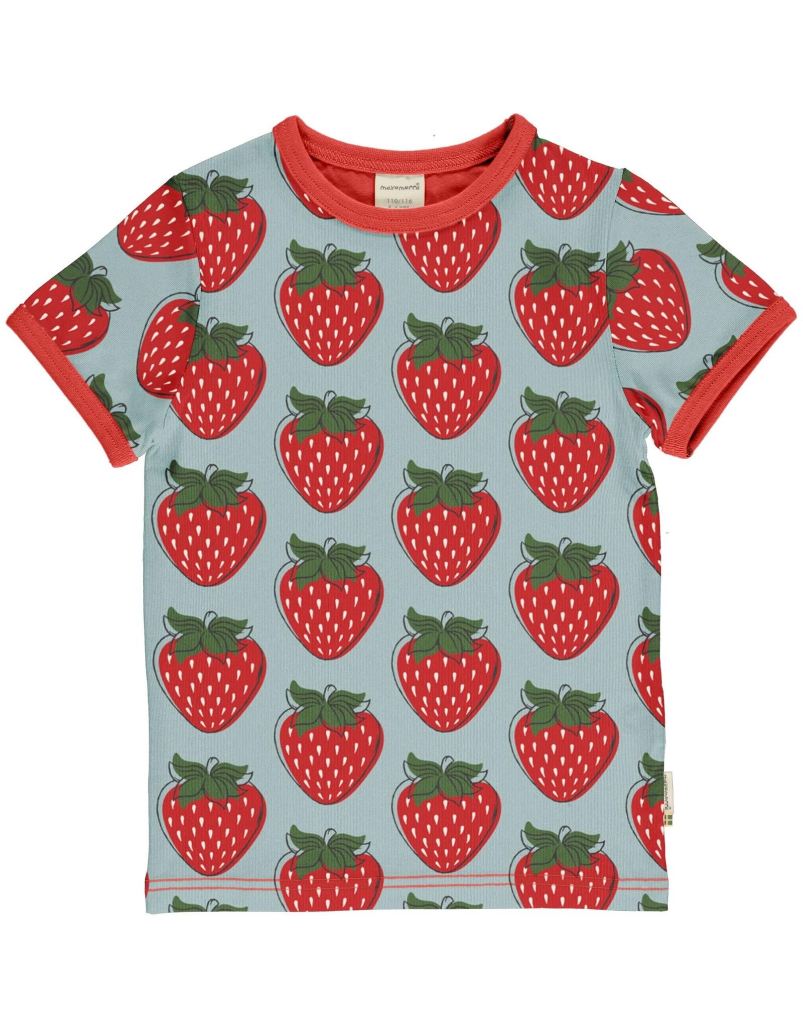 Maxomorra Maxomorra T-shirt met aardbeien print