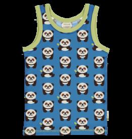 Maxomorra Mouwloze t-shirt met panda's