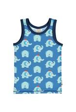 Maxomorra Mouwloze t-shirt met olifanten print van Maxomorra
