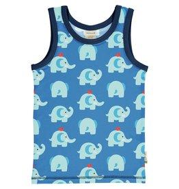 Maxomorra Mouwloze t-shirt met olifanten - LAATSTE MAAT 122/128