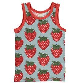Maxomorra Mouwloze t-shirt met aardbeien - LAATSTE MAAT 122/128