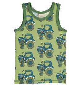 Maxomorra T-shirt zonder mouwen met tractor print