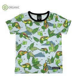 Villervalla T-shirt met kameleons - LAATSTE MAAT 98